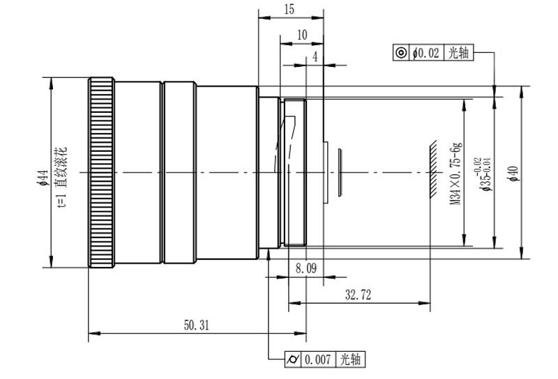 27 мм / F2.0 Оптический атермальные линзы