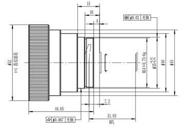 50 мм / F2.0 Оптический атермальные линзы
